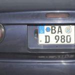 Eurokennzeichen in verkleinerter Ausführung