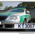 Behördenkennzeichen (hier: Polizei, alte Ausführung)