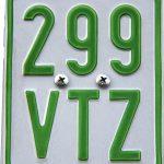 Versicherungskennzeichen grün