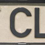 Amtliches Kennzeichen in der bis zum 31.10.2000 geltenden Fassung mit dem ab 1.7.1995 ausgegebenen Landeswappen