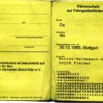 Führerschein zur Fahrgastbeförderung [Beispiel: Krankenwagen (Außenseite)]