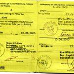 Führerschein zur Fahrgastbeförderung [Beispiel: Krankenwagen (Innenseite)]