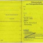 Führerschein zur Fahrgastbeförderung [Beispiel: Mietwagen (Innenseite)]