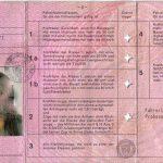 """Der """"rosa"""" Führerschein 1986 - 1998 (Bildseite)"""
