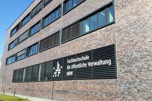 Das neue Gebäude der Fachhochschule für öffentliche Verwaltung in der Erna-Scheffler-Str. in Köln-Deutzerfeld