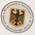 Stempelplakette des Bundesinnenministeriums