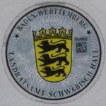 Stempelplakette Baden-Württemberg