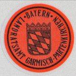Stempelplakette für Ausfuhrkennzeichen (Beispiel Gramisch-Partenkirchen)