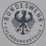 Stempelplakette der Bundeswehr