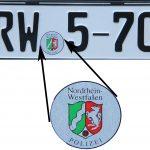Stempelplakette der Polizei Nordrhein-Westfalen
